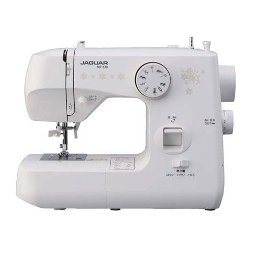【ミシン】 ジャガー MP-130・ジャガー ・電動ミシン ・ホワイト 【979089】T