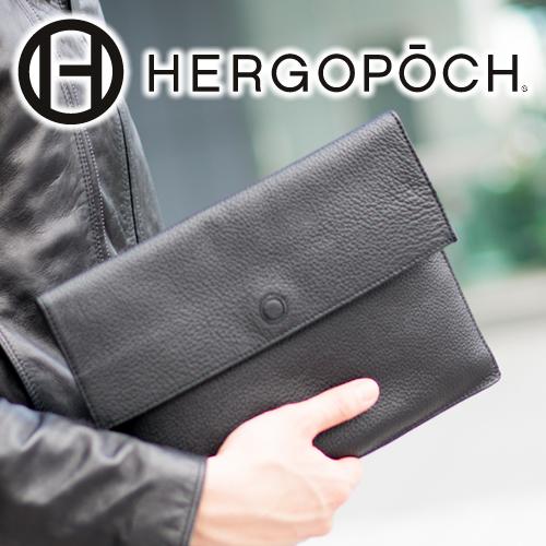 【選べる実用的ノベルティ付】 HERGOPOCH エルゴポック バッグ11Series 11シリーズ プライムグレインレザーエンベロープバッグ(バッグインバッグ) 11-ENV-Sメンズ 書類ケース ドキュメントケース 日本製 ギフト
