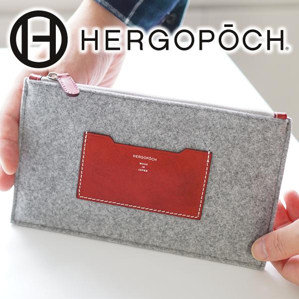 Hergopoch エルゴポックバッグ Fl Series Felt X Side Thing Leather Mini Clutch Mc Men Bag Second In Porch