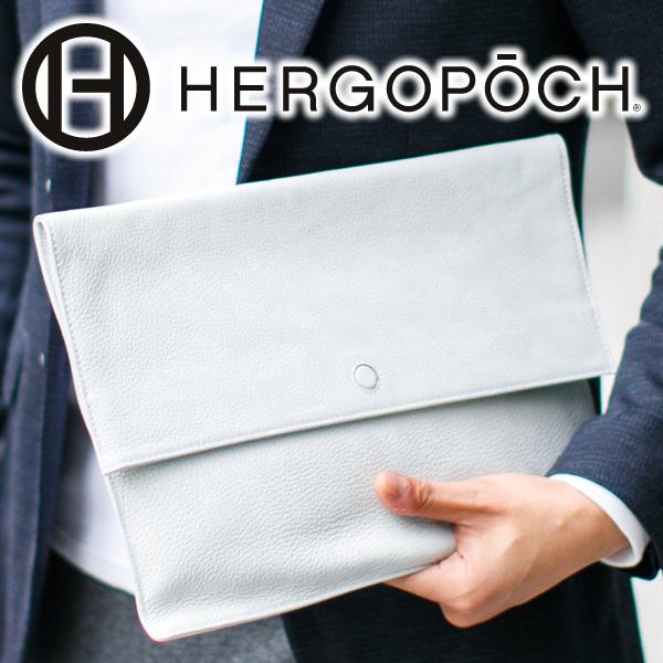 【実用的Wプレゼント付】 HERGOPOCH エルゴポック バッグKingly Series キングリーシリーズ カモフラージュエンボスレザーエンベロープバッグ(大) KGC-ENVメンズ バッグインバッグ 日本製 ブランド
