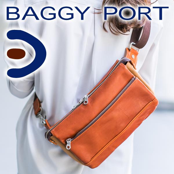 【選べる実用的ノベルティ付】 BAGGY PORT バギーポート バッググローブレザー ボディーバッグ YNM207メンズ バッグ ボディバッグ 2室 2層 セパレート 斜めがけ 日本製 ギフト プレゼント