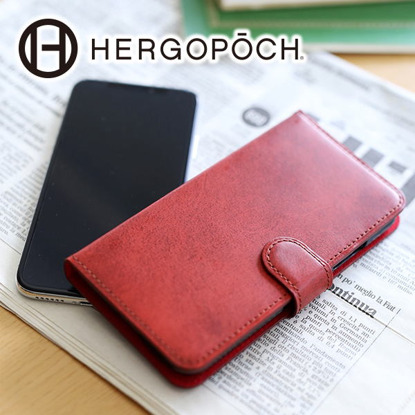 【選べる実用的ノベルティ付】 [ 2018年 新作 ] HERGOPOCH エルゴポック iphoneケース06 Series 06シリーズ ワキシングレザーアイフォンケース(iPhoneX) 06W-IPXメンズ アイフォン ケース iPhone X 日本製 ギフト