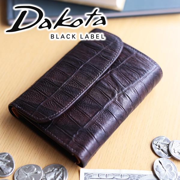 【実用的Wプレゼント付】 Dakota BLACK LABEL ダコタ ブラックレーベル 財布ウェイブ 小銭入れ付き三つ折り財布 0627201メンズ 三つ折り ギフト プレゼント ブランド