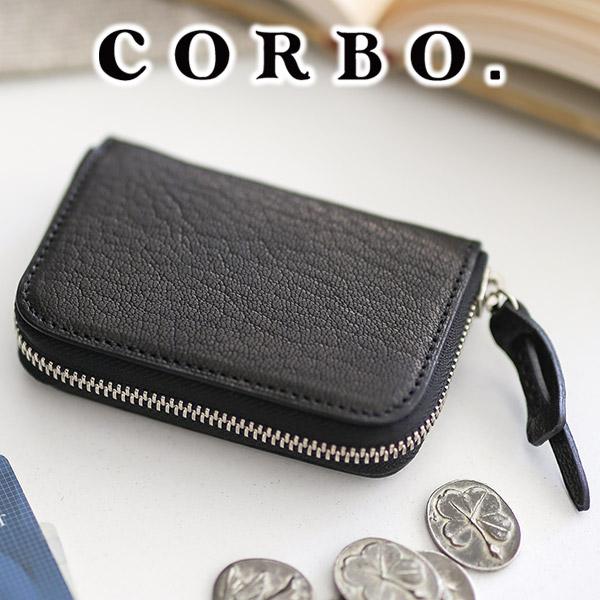 【実用的Wプレゼント付】 CORBO. コルボ 財布<BR>-GOAT- ゴート シリーズラウンドファスナー カード入れ付きコインケース 1LJ-1305<BR><BR>メンズ 財布 小銭入れ コインケース カードケース 山羊革 さいふ 日本製 ブランド