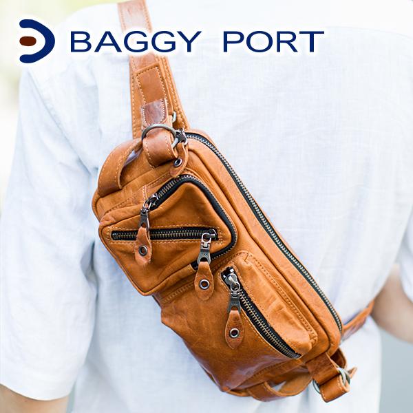 【実用的Wプレゼント付】 BAGGY PORT バギーポート ボディーバッグ NIS-6415メンズ バッグ ボディバッグ 日本製 ギフト プレゼント ブランド