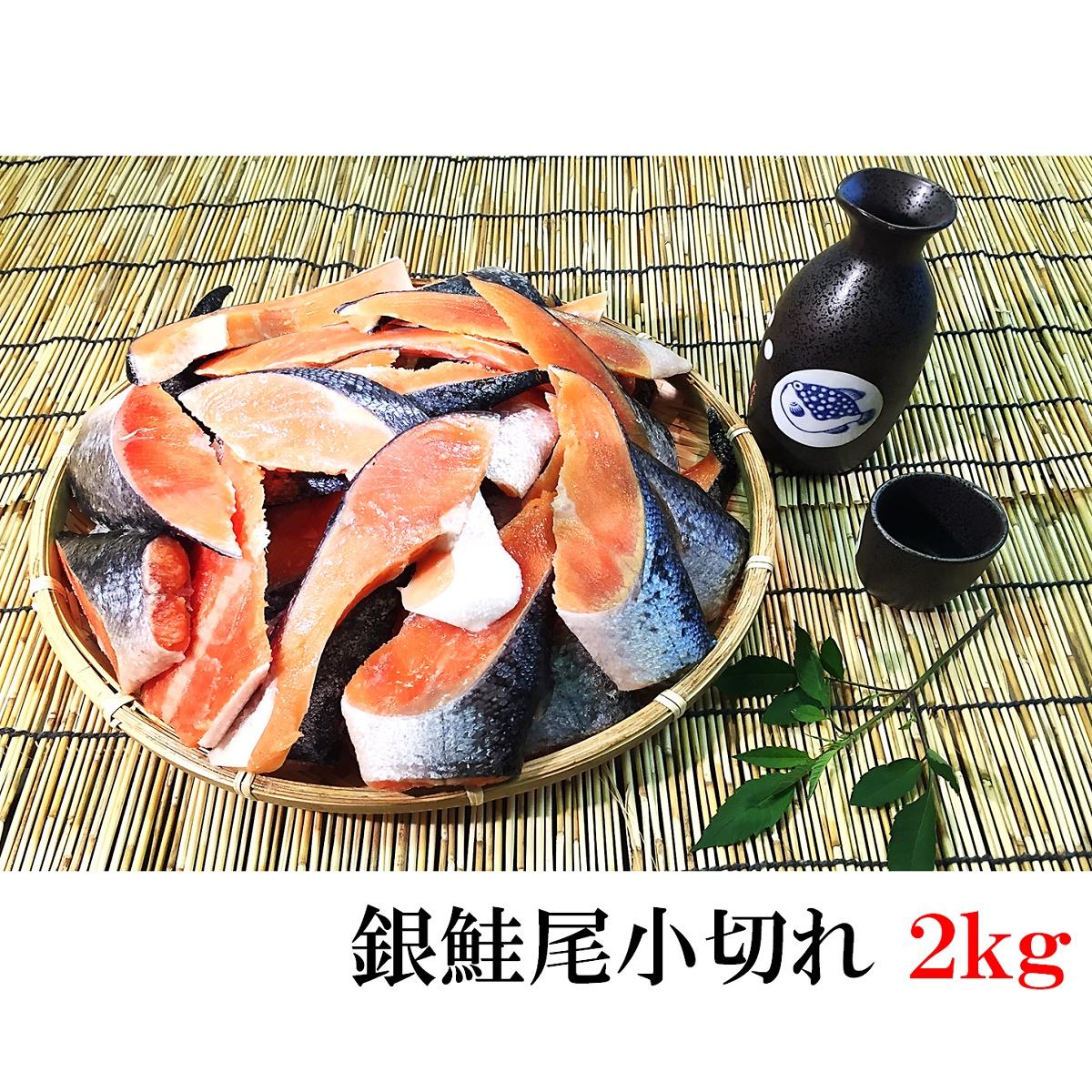 送料無料でお届けします 脂がのっておいしい銀鮭の小切れ 新作送料無料 訳あり銀鮭尾小切れ2kg