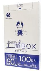 エコ袋 半透明90L 5箱から送料無料 事業者限定 BX-935L箱 100%品質保証 送料無料限定セール中 半透明 《サンキョウプラテック正規代理店》 沖縄 北海道 離島は別途送料がかかります 0.025×900×1000