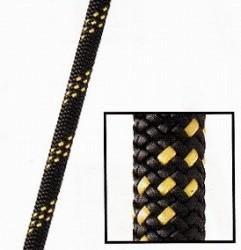 スタティックロープKM3 MAX【9.5mm】ブラック/ゴールド【入数:200m】(引張強度27kN)NFPA基準認定品