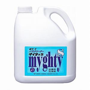 業務用浴室洗剤 ポリーズバスクリーナー マイティS 【中性】【4L×4本入】【浴槽浴室の強力洗浄剤】《ユシロ化学工業正規代理店》