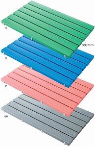 YSカラースノコ・セフティ抗菌(F-115-3-L) (キャップ付き)【L型】(600×1806mm)《山崎産業正規代理店》