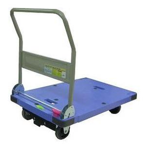 サイレントマスター運搬台車青(900×600mm)【折畳式ハンドル】【ブレーキ付(静音タイプ)】《ナンシン正規代理店》