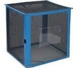 [事業者限定] 自立ゴミ枠 折りたたみ式 黒[容量:340L][規格色:黒][W700×D700×H700mm]《テラモト正規代理店》