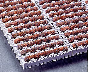 期間限定 土砂落とし用 ナイロンブラッシュH-30 10ピースセット 《テラモト正規代理店》 送料無料カード決済可能 事業者限定 規格サイズ:1ピース152×152mm