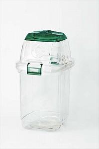 屋内用屑入 透明エコダスター#35【規格:ペットボトルキャップ用グリーン】《テラモト正規代理店》