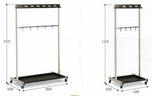 モップハンガーRC型(6本掛)【サイズ:約W536×D505×H1375mm】《テラモト正規代理店》【標準価格より40%OFF】お客様組立商品