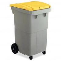 リサイクルカート#200●搬送型・イエロー《テラモト正規代理店》※完成品でお届けします。