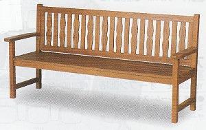 [送料無料][事業者限定] [天然木]ベンチYB-67L-WN(背付)[幅1880×奥行610×高さ920mm]《山崎産業正規代理店》組み立て式