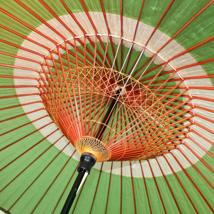 羽二重蛇の目傘 グリーン