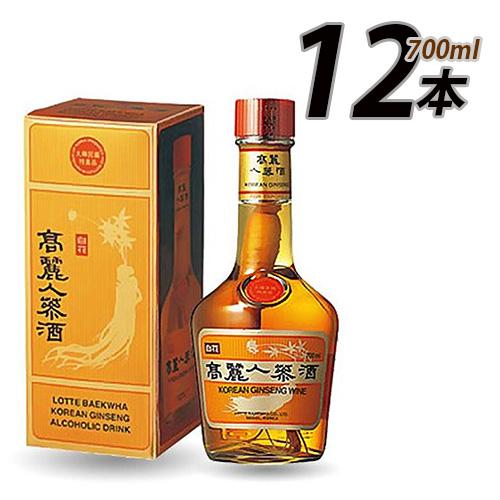 「10」 (02351)【S】【Gift用】高麗人参酒 ★ 700ml X 12本 ★ (1BOX)  【韓国 高麗人参 酒 漢方 健康 百花】 ★★