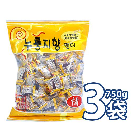 香ばしいおこげの味をそのまま 日本には無い 不思議 な味の飴です おこげ飴 ヌルンジ飴 750gx3袋セット 韓国キャンディー メーカー公式 S 大袋 09530x3 お焦げ味飴 お菓子 韓国飴 贈答