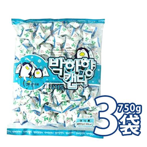 口の中を一気にスッキリリフレッシュー 韓国料理の後はスカッとたまらない ミント味 ハッカ味の飴 750gx3袋 大袋 お菓子 業務用 購入 韓国キャンディー ハッカ飴 09534x3 S 発売モデル