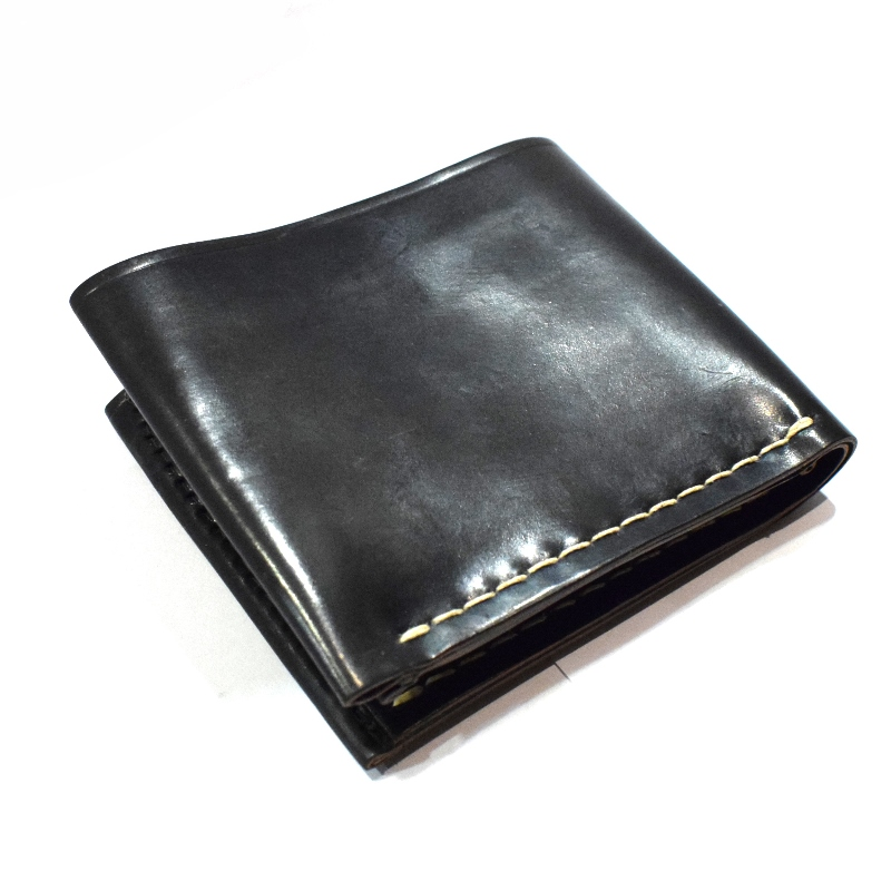 CORONADO LEATHER(コロナドレザー)【MADE IN U.S.A】ALL LEATER WALLET(アメリカ製オールレザーウォレット) HORWEEN CORDOVAN LEATHER(コードバンレザー) BLACK