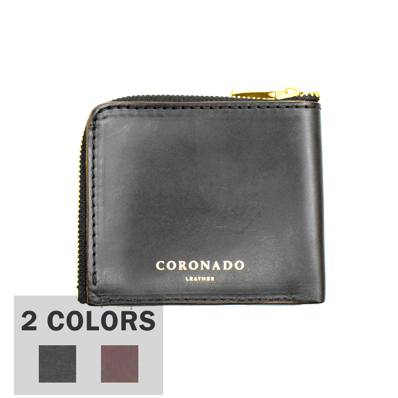 【2 COLOR】CORONADO LEATHER(コロナドレザー)【MADE IN U.S.A】ALL LEATER ZIPPER WALLET(オールレザージッパーウォレット) HORWEEN HORSEHIDE CHROMEXCEL LEATHER(ホースハイド クロームエクセルレザー)