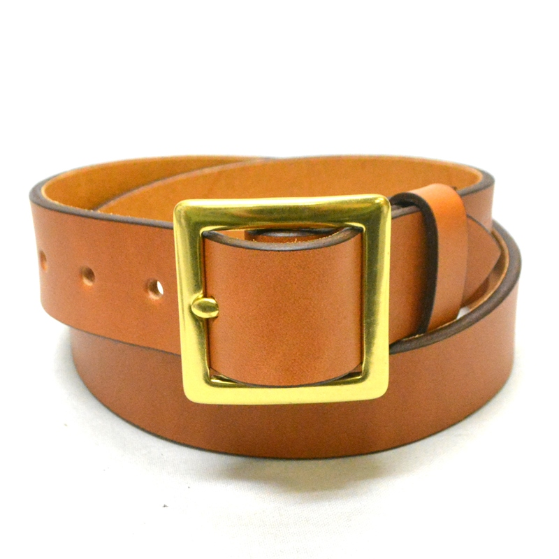 【3 COLORS】 TANNER GOODS(タンナーグッズ) 【MADE IN U.S.A.】GARRISON LEATHER BELT(アメリカ製 ベジタブルタンニン レザーベルト) BRASS(ブラス / 真鍮)