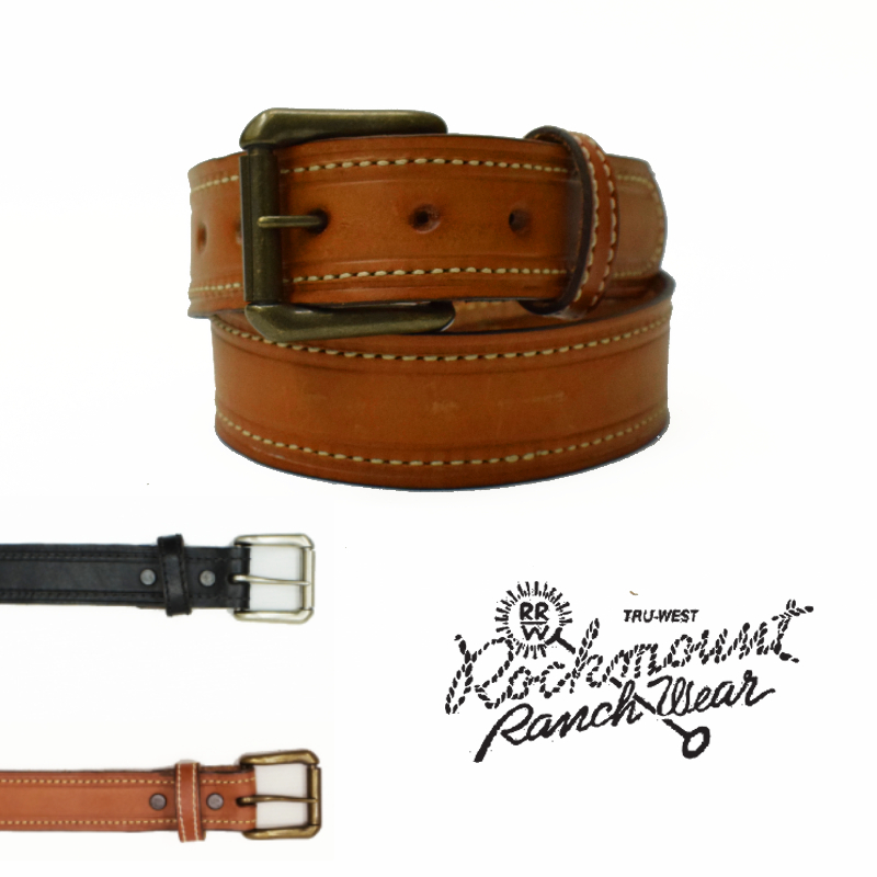 【2 COLOR】ROCKMOUNT(ロックマウント)【MADE IN U.S.A】ROLLER BUCKLE BELT(アメリカ製 ローラーバックル ベルト) FULL GRAIN COWHIDE