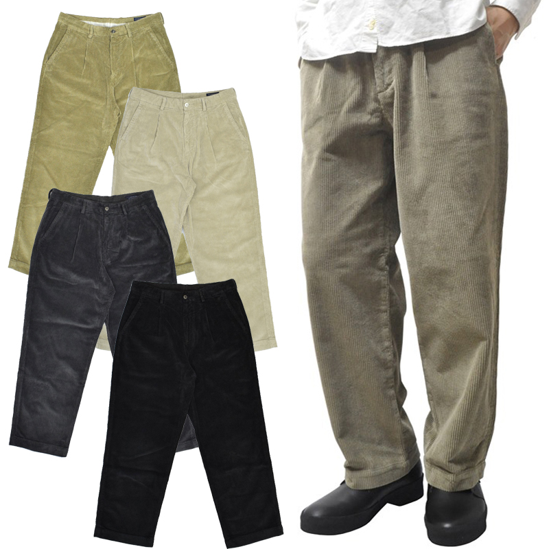 【5 COLOR】RICCARDO METHA(リカルド メサ)【MADE IN ITALY】 CORDUROY 1TUCK WIDE TROUSER(イタリア製 太畝 コーデュロイ ワンタック ワイドトラウザー)