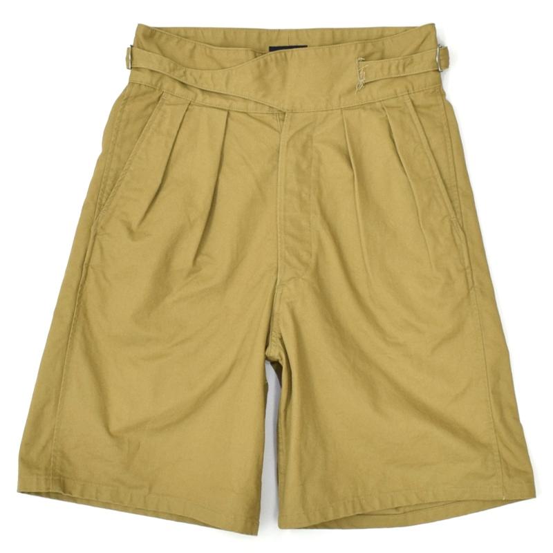 BRITISH KHAKI(ブリティッシュカーキ) TWILL GURKHA SHORT PANTS(ツイル グルカショートパンツ) KHAKI(カーキ)