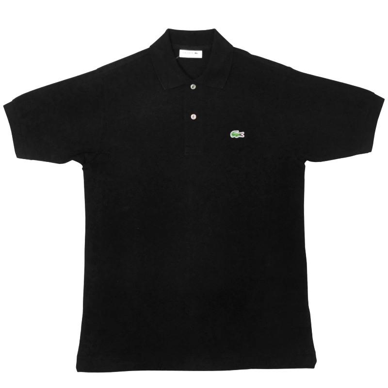 JAPAN LACOSTE(ジャパンラコステ) L1212 S/S PIQUE POLOSHIRTS(半袖 鹿の子 ポロシャツ) NOIR(BLACK)(031)