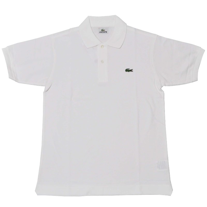 JAPAN LACOSTE(ジャパンラコステ) L1212 S/S PIQUE POLOSHIRTS(半袖 鹿の子 ポロシャツ) BLANC(WHITE)(001)