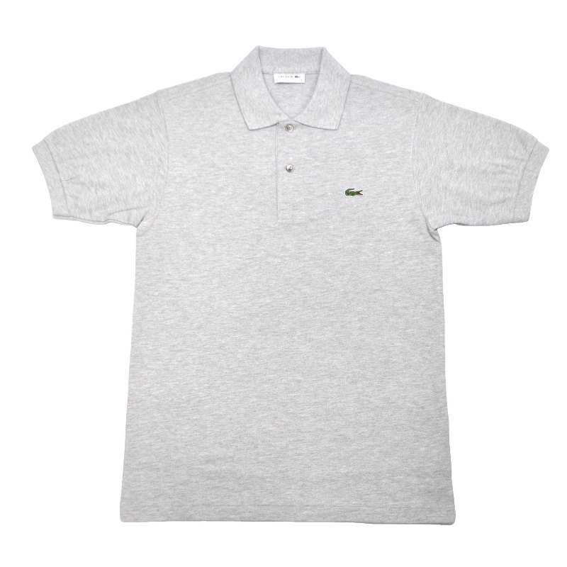 JAPAN LACOSTE(ジャパンラコステ) L1264 S/S PIQUE POLOSHIRTS(半袖 鹿の子 ポロシャツ) ARGENT(HEATHER SILVER)(CCA)