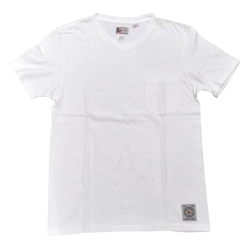 FELCO(フェルコ)【MADE IN U.S.A】S/S V/N POCKET TEE SHIRTS(アメリカ製 半袖VネックポケットTシャツ) WHITE