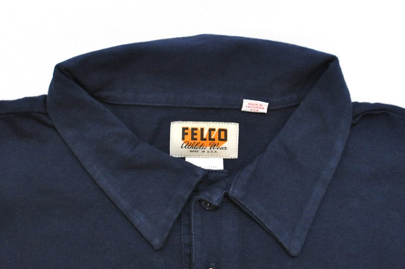 FELCO(feruko)S/S POLO SHIRT(美国制造短袖开领短袖衬衫)NAVY