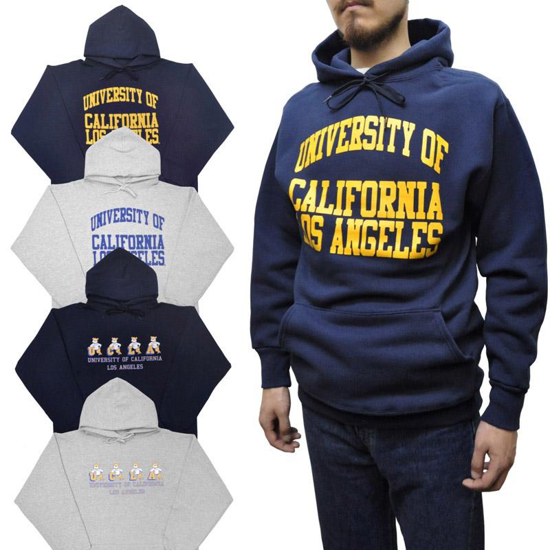 【4 COLOR】UCLA(ユーシーエルエー) 【MADE IN USA】 SWEAT PULLOVER PARKA(アメリカ製プルオーバーパーカ)