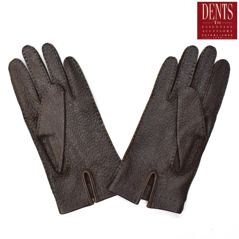 DENTS(デンツ) LAETHER GLOVES(レザーグローブ/革手袋) PECCARY UNLINED(ペッカリー アンラインド) BARK