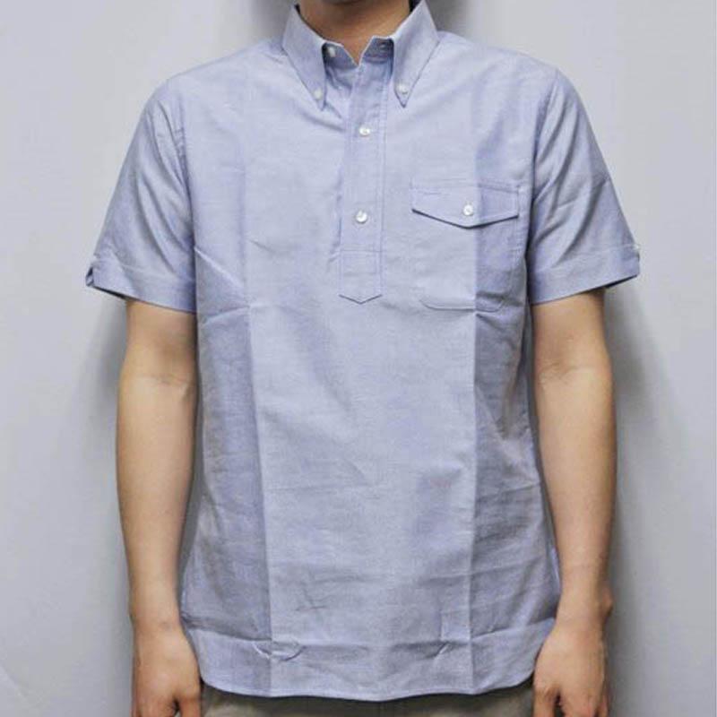 SEPTIS ORIGINAL(セプティズオリジナル) S/S ORIGINAL IVY P/O SHIRTS(半袖オリジナルアイビープルオーバーシャツ) OXFORD(オックスフォード) BLUE
