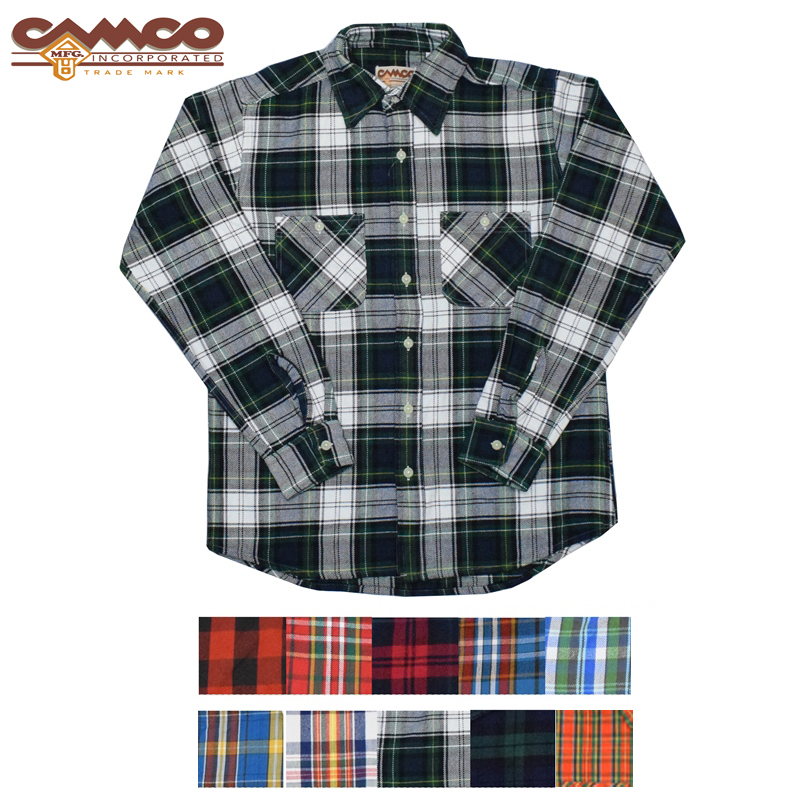 【10 COLOR】CAMCO(カムコ) HEAVY WEIGHT FLANNEL SHIRTS(ヘビーウェイトフランネルシャツ)