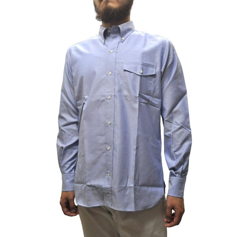 SEPTIS ORIGINAL(セプティズオリジナル) 長袖ボタンダウンシャツ IVY SHIRTS(オリジナルアイビーシャツ) THOMAS MASON FABRIC(トーマスメイソン) OXFORD BLUE