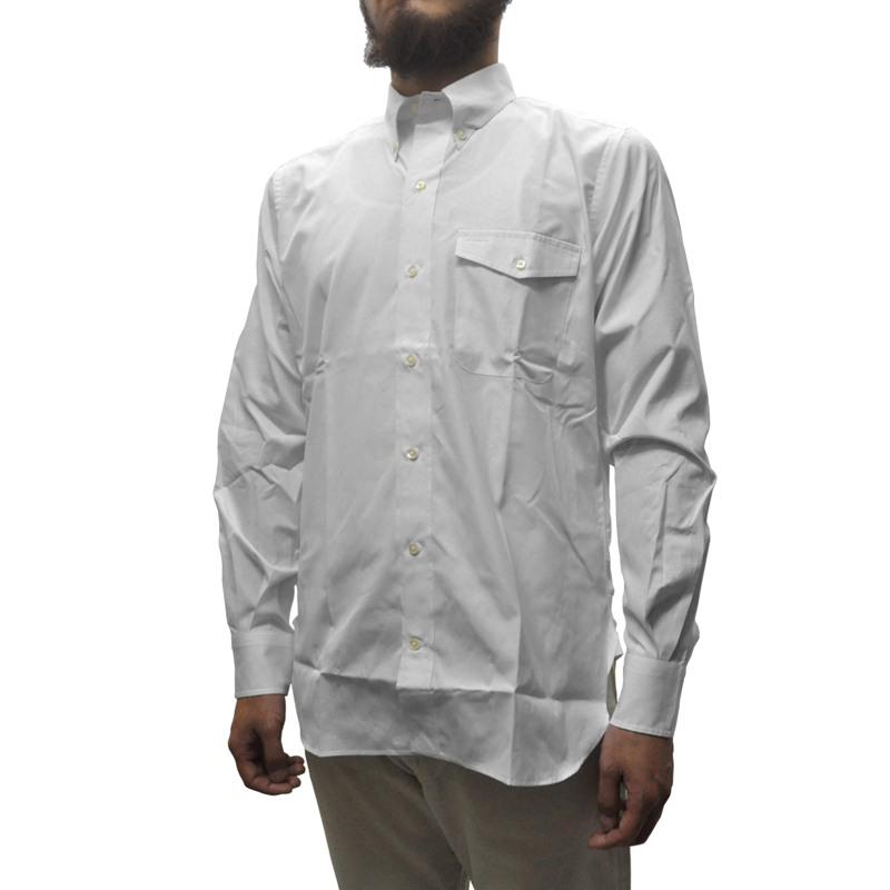 SEPTIS ORIGINAL(セプティズオリジナル) 長袖ボタンダウンシャツ IVY SHIRTS(オリジナルアイビーシャツ) THOMAS MASON FABRIC(トーマスメイソン) BROAD WHITE