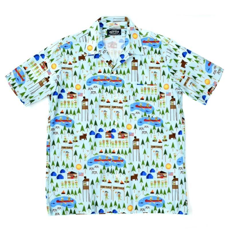 SEPTIS ORIGINAL(セプティズオリジナル) S/S ONENAP COLLARED SHIRTS(半袖ワンナップカラーシャツ/開襟シャツ) BOY SCOUT(ボーイスカウト) LIGHT BLUE