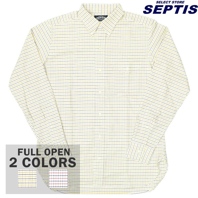 【2 COLORS】SEPTIS ORIGINAL(セプティズオリジナル) L/S B/D IVY SHIRTS(オリジナルアイビーシャツ 長袖ボタンダウンシャツ) OXFORD TATTERSALL CHECK(オックスフォード タッターソールチェック)