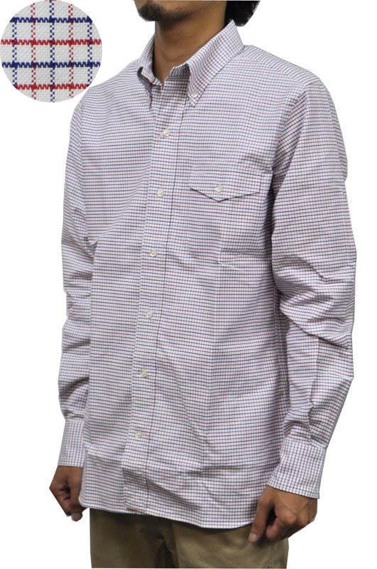 SEPTIS ORIGINAL(セプティズオリジナル) 長袖ボタンダウンシャツ IVY SHIRTS(オリジナルアイビーシャツ) OXFORD(オックスフォード) TATTERSALL(タッターソール) WHITE/NAVY/RED