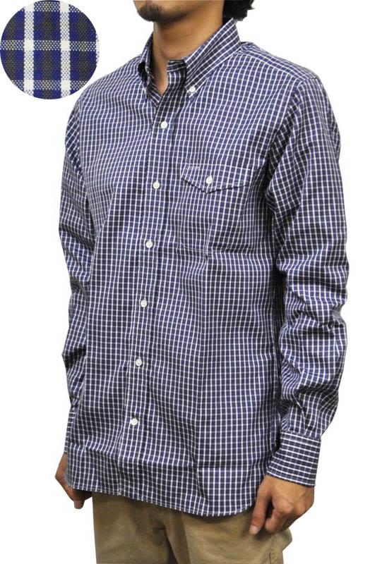 SEPTIS ORIGINAL(セプティズオリジナル) 長袖ボタンダウンシャツ IVY SHIRTS(オリジナルアイビーシャツ) PIN OXFORD(ピンオックスフォード) スモールチェック NAVY