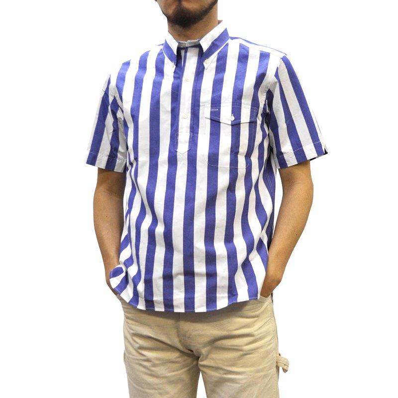 SEPTIS ORIGINAL(セプティズオリジナル) IVY PULLOVER SHIRTS(半袖ボタンダウンアイビープルオーバーシャツ) BOLD STRIPE