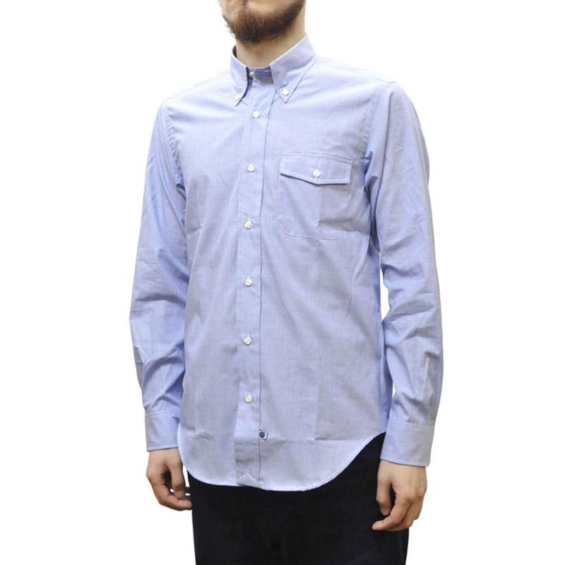 IKE BEHAR(アイク ベーハー)×SEPTIS(セプティズ) ダブルネーム L/S B/D SHIRTS(長袖ボタンダウンシャツ) END ON END(エンドオンエンド) BLUE
