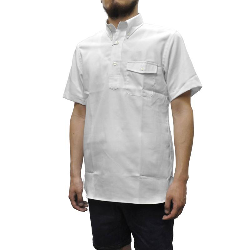 IKE BEHAR(アイク ベーハー)×SEPTIS(セプティズ) ダブルネーム S/S B/D P/O SHIRTS(半袖ボタンダウンプルオーバーシャツ) OXFORD(オックスフォード) WHITE