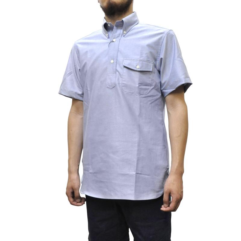 IKE BEHAR(アイク ベーハー)×SEPTIS(セプティズ) ダブルネーム S/S B/D P/O SHIRTS(半袖ボタンダウンプルオーバーシャツ) OXFORD(オックスフォード) BLUE